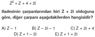 01554 Karmaşık Sayılar Çözümlü Sorular (Testi 2)