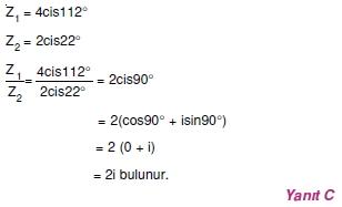01556 Karmaşık Sayılar Çözümlü Sorular (Testi 1)