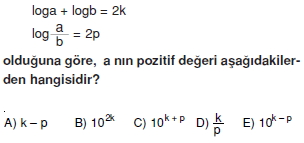 01572 Logaritma Soruları (Test 1 )