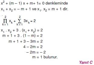 01574 Toplam Çarpım Sembolü Çözümlü Soruları (Test 1 )