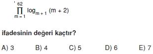 01575 Toplam Çarpım Sembolü Çözümlü Soruları (Test 1 )