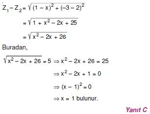 01657 Karmaşık Sayılar Çözümlü Sorular (Testi 2)