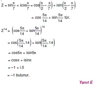 01658 Karmaşık Sayılar Çözümlü Sorular (Testi 1)
