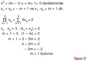 01675 Toplam Çarpım Sembolü Çözümlü Soruları (Test 1 )