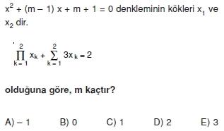 01676 Toplam Çarpım Sembolü Çözümlü Soruları (Test 1 )