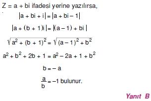 01754 Karmaşık Sayılar Çözümlü Sorular (Testi 2)