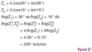 01755 Karmaşık Sayılar Çözümlü Sorular (Testi 1)