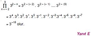 01771 Toplam Çarpım Sembolü Çözümlü Soruları (Test 1 )
