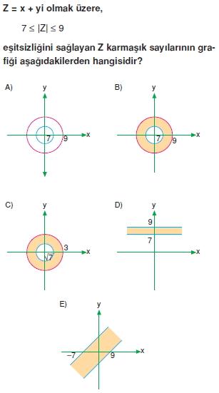 01852 Karmaşık Sayılar Çözümlü Sorular (Testi 2)