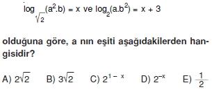 01868 Logaritma Soruları (Test 1 )