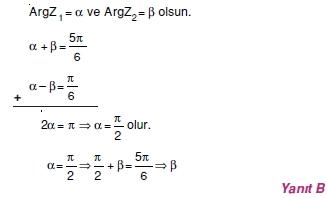 01943 Karmaşık Sayılar Çözümlü Sorular (Testi 2)