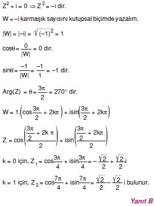 01944 Karmaşık Sayılar Çözümlü Sorular (Testi 1)