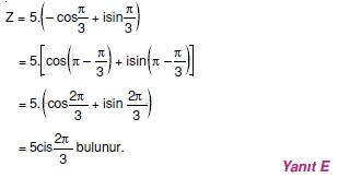 02034 Karmaşık Sayılar Çözümlü Sorular (Testi 2)
