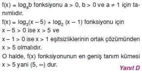00131 Özel Tanımlı Fonksiyonlar Çözümlü Sorular (Test 1 )