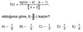 00824 Özel Tanımlı Fonksiyonlar Çözümlü Sorular (Test 1 )