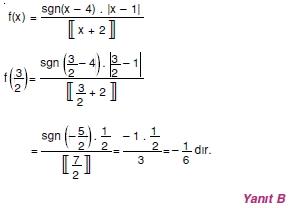 00825 Özel Tanımlı Fonksiyonlar Çözümlü Sorular (Test 1 )