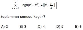 00924 Özel Tanımlı Fonksiyonlar Çözümlü Sorular (Test 1 )