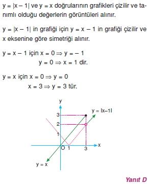 01124 Özel Tanımlı Fonksiyonlar Çözümlü Sorular (Test 1 )