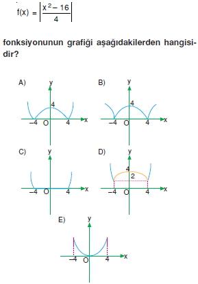 01219 Özel Tanımlı Fonksiyonlar Çözümlü Sorular (Test 1 )