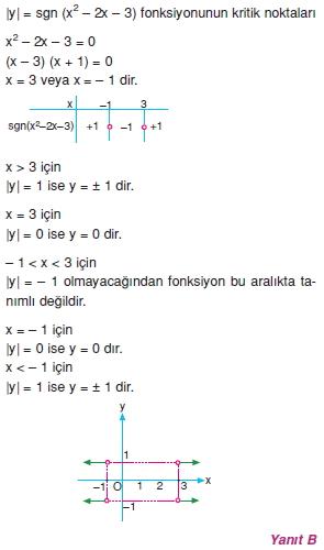 01517 Özel Tanımlı Fonksiyonlar Çözümlü Sorular (Test 1 )