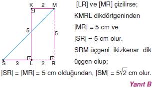 Dik Ucgen Cozumler I 0021 Dik Üçgen Çözümlü Sorular (Test 2)