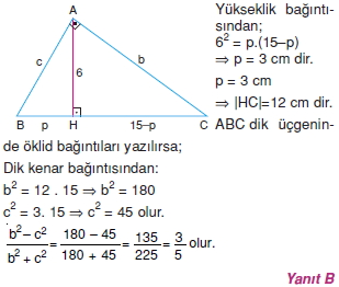 Dik Ucgen Cozumler I 0031 Dik Üçgen Çözümlü Sorular (Test 2)