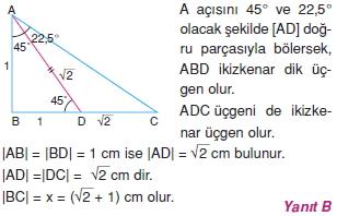 Dik Ucgen Cozumler I 0051 Dik Üçgen Çözümlü Sorular (Test 2)