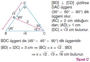 Dik Ucgen Cozumler I 0061 Dik Üçgen Çözümlü Sorular (Test 2)