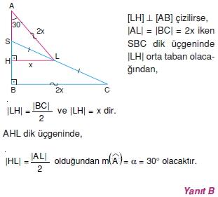 Dik Ucgen Cozumler I 0071 Dik Üçgen Çözümlü Sorular (Test 2)