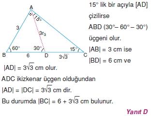 Dik Ucgen Cozumler I 0081 Dik Üçgen Çözümlü Sorular (Test 2)