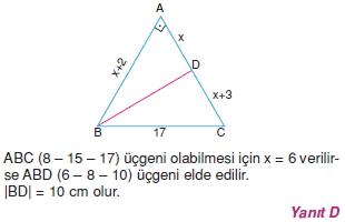 Dik Ucgen Cozumler I 0091 Dik Üçgen Çözümlü Sorular (Test 2)