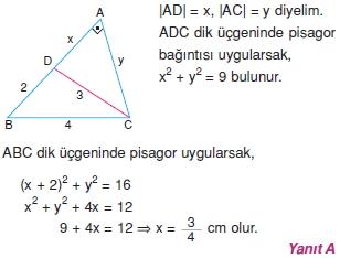 Dik Ucgen Cozumler I 0121 Dik Üçgen Çözümlü Sorular (Test 2)