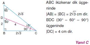 Dik Ucgen Cozumler I 0131 Dik Üçgen Çözümlü Sorular (Test 2)