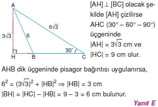 Dik Ucgen Cozumler I 0141 Dik Üçgen Çözümlü Sorular (Test 2)