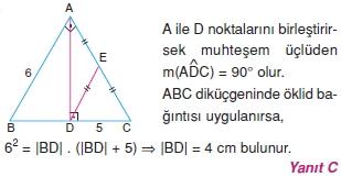 Dik Ucgen Cozumler I 0151 Dik Üçgen Çözümlü Sorular (Test 2)