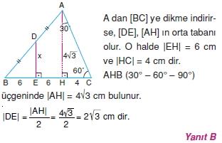 Dik Ucgen Cozumler I 0161 Dik Üçgen Çözümlü Sorular (Test 2)