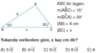 Dik Ucgen Cozumlu Test I 004 Dik Üçgen Çözümlü Sorular (Test 2)