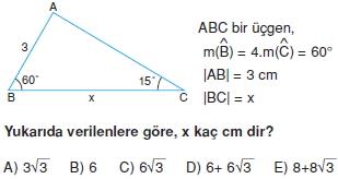 Dik Ucgen Cozumlu Test I 008 Dik Üçgen Çözümlü Sorular (Test 2)