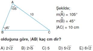 Dik Ucgen Cozumlu Test I 010 Dik Üçgen Çözümlü Sorular (Test 2)