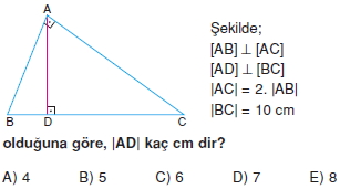 Dik Ucgen Cozumlu Test I 011 Dik Üçgen Çözümlü Sorular (Test 2)