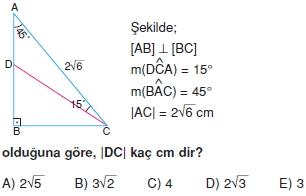 Dik Ucgen Cozumlu Test I 013 Dik Üçgen Çözümlü Sorular (Test 2)