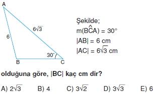 Dik Ucgen Cozumlu Test I 014 Dik Üçgen Çözümlü Sorular (Test 2)