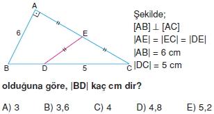 Dik Ucgen Cozumlu Test I 015 Dik Üçgen Çözümlü Sorular (Test 2)