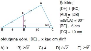 Dik Ucgen Cozumlu Test I 016 Dik Üçgen Çözümlü Sorular (Test 2)