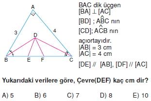 aciortay kenarortay cozumlu test II 001 Açıortay – Kenarortay Çözümlü Sorular ( Test 1)