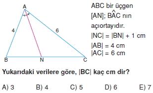 aciortay kenarortay cozumlu test II 004 Açıortay – Kenarortay Çözümlü Sorular ( Test 1)