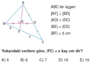 aciortay kenarortay cozumlu test II 009 Açıortay – Kenarortay Çözümlü Sorular ( Test 1)