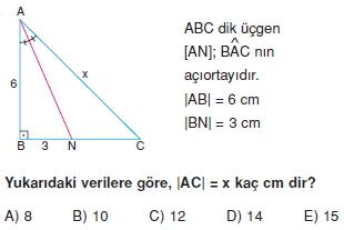 aciortay kenarortay cozumlu test II 013 Açıortay – Kenarortay Çözümlü Sorular ( Test 1)
