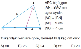 aciortay kenarortay cozumlu test II 015 Açıortay – Kenarortay Çözümlü Sorular ( Test 1)